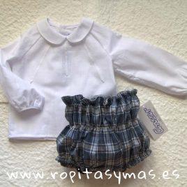 Camisa bebe blanca ESCOCESA de  ANCAR, invierno 2019