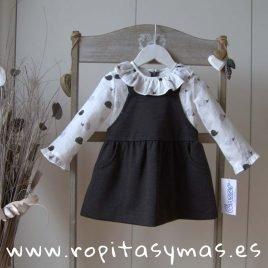 Vestido pichi gris ERIZOS de ANCAR, invierno 2019