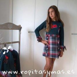 Vestido escoces love ALPES de KAULI, invierno 2019