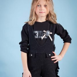 Camiseta negra niña COSMOS de KAULI, invierno 2019