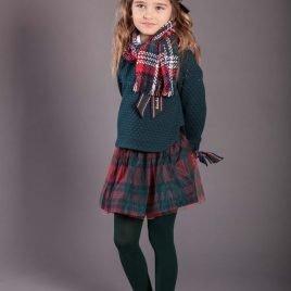 Falda tul escocesa ALPES YOUNG&CHIC de KAULI, invierno 2019
