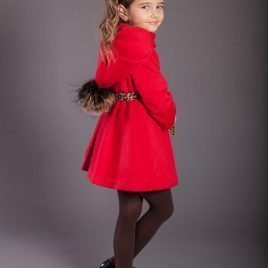 Abrigo rojo ASCOT niña de KAULI, invierno 2019