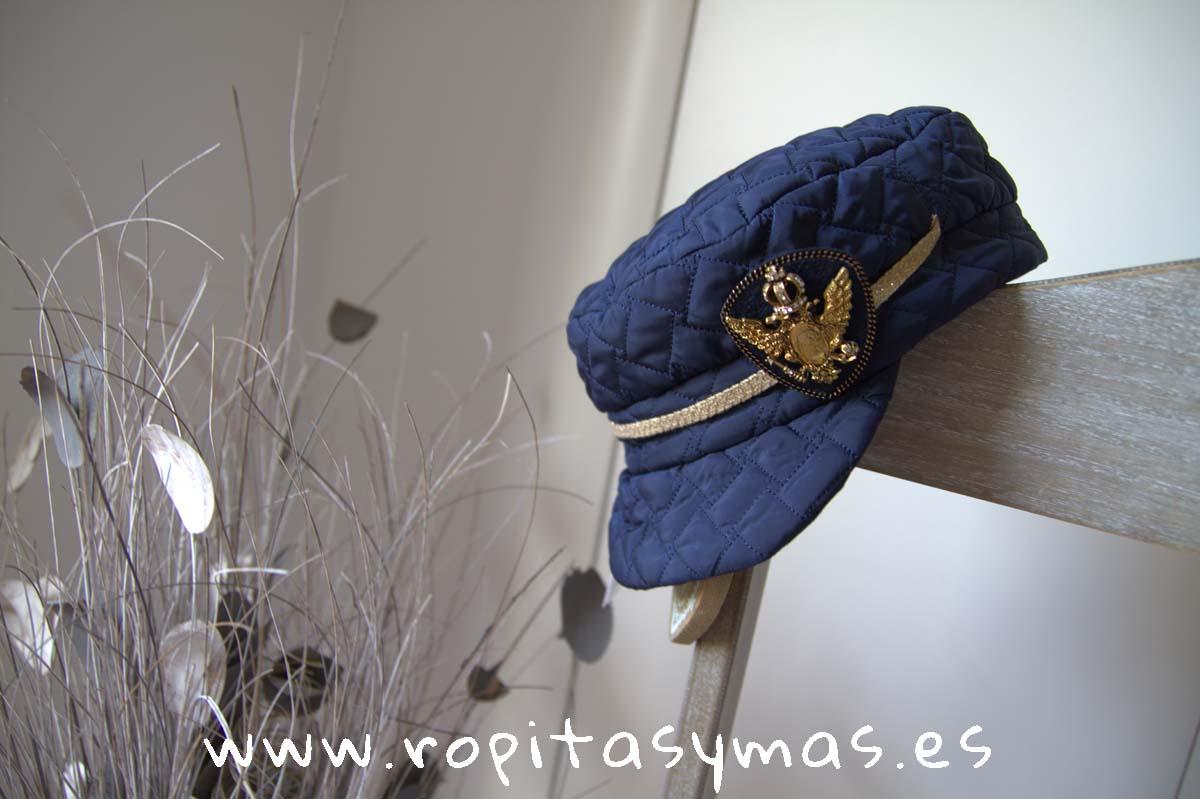 Gorra azul acolchada NUEZ de KAULI