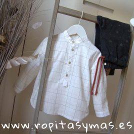 Camisa niño cuadros de MIA Y LIA, invierno 2019