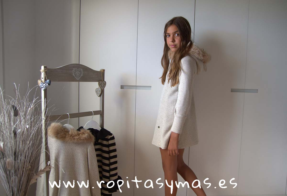 Vestido beige JADEITA de BELLA BIMBA