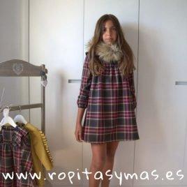 Vestido cuadros TARTAN de EVE CHILDREN, invierno 2019