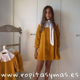 Vestido punto mostaza FOX de EVE CHILDREN, invierno 2019