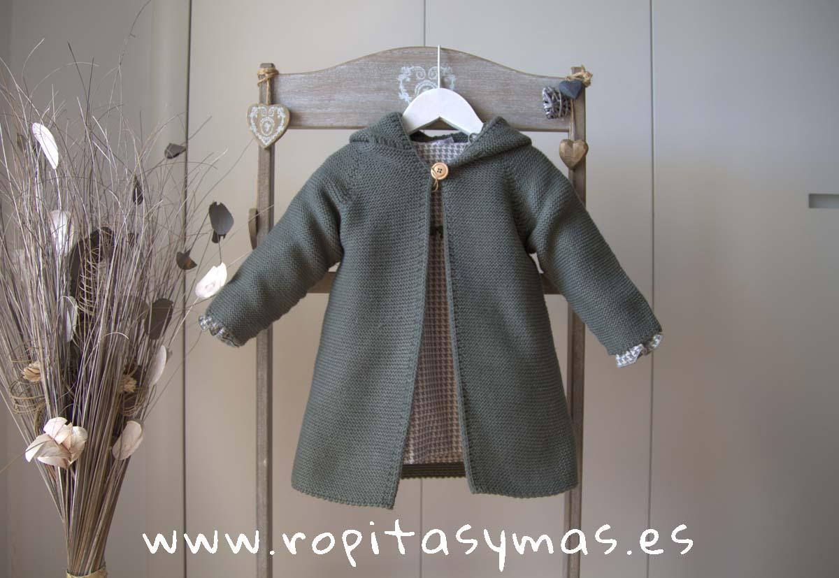 Abrigo de punto verde AQUA de EVE CHILDREN
