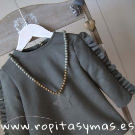 Collar gris y dorado AQUA de EVE CHILDREN, invierno 2019