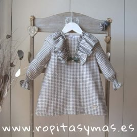 Vestido pata de gallo AQUA de EVE CHILDREN, invierno 2019