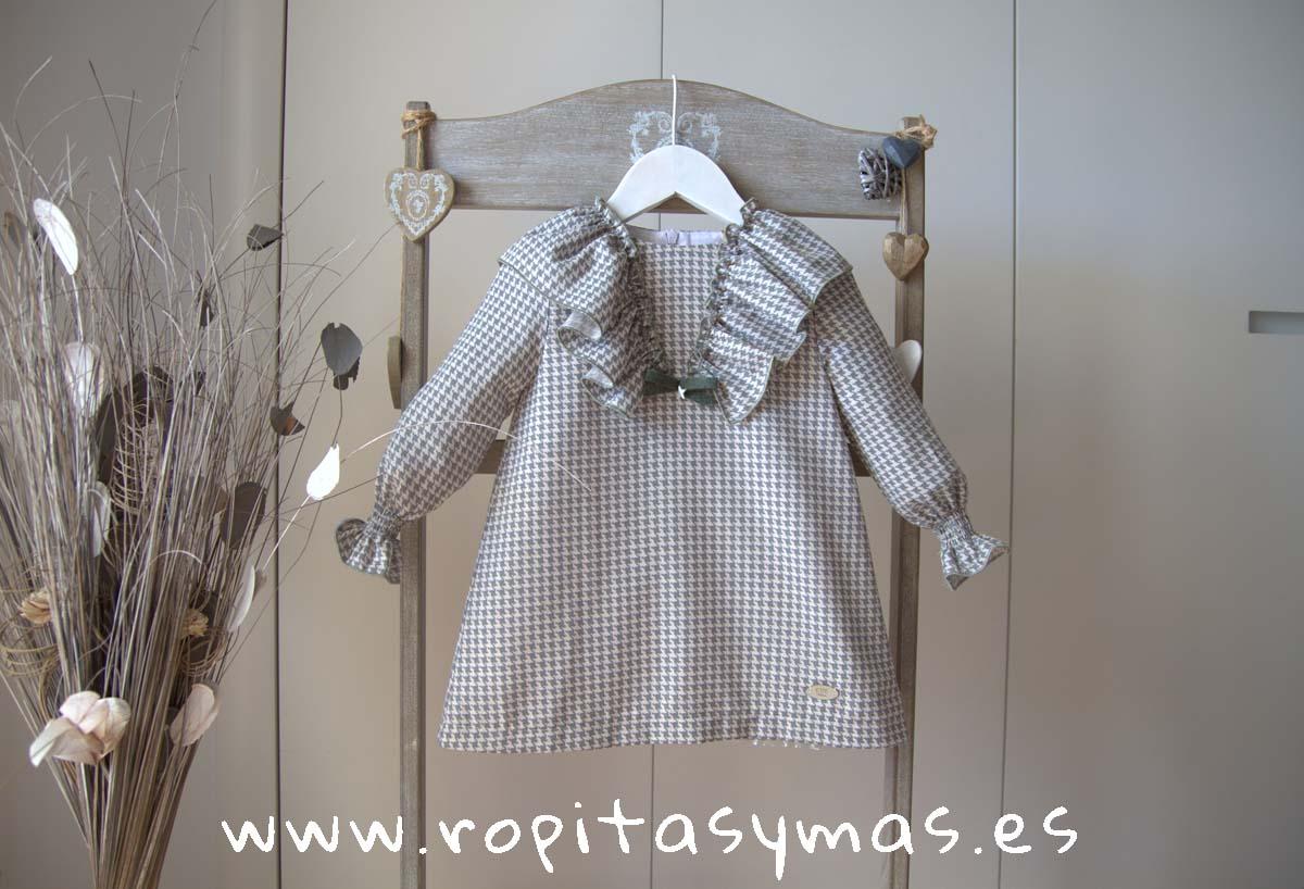 Vestido pata de gallo AQUA de EVE CHILDREN