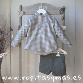 Conjunto niño pata de gallo AQUA de EVE CHILDREN, invierno 2019