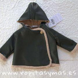 Abrigo piel verde LEAF de EVE CHILDREN, invierno 2019