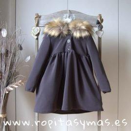 Vestido teen gris capucha TOP de EVE CHILDREN, invierno 2019