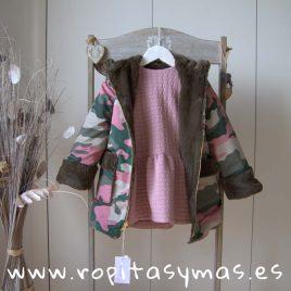 Abrigo rosa camuflaje SAFARI de MAMI MARIA, invierno 2019