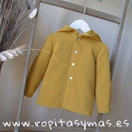 Camisa niño capucha mostaza de MIA Y LIA, invierno 2019