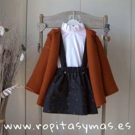 Chaqueta caldero con capucha y pompón MIA Y LIA, invierno 2019