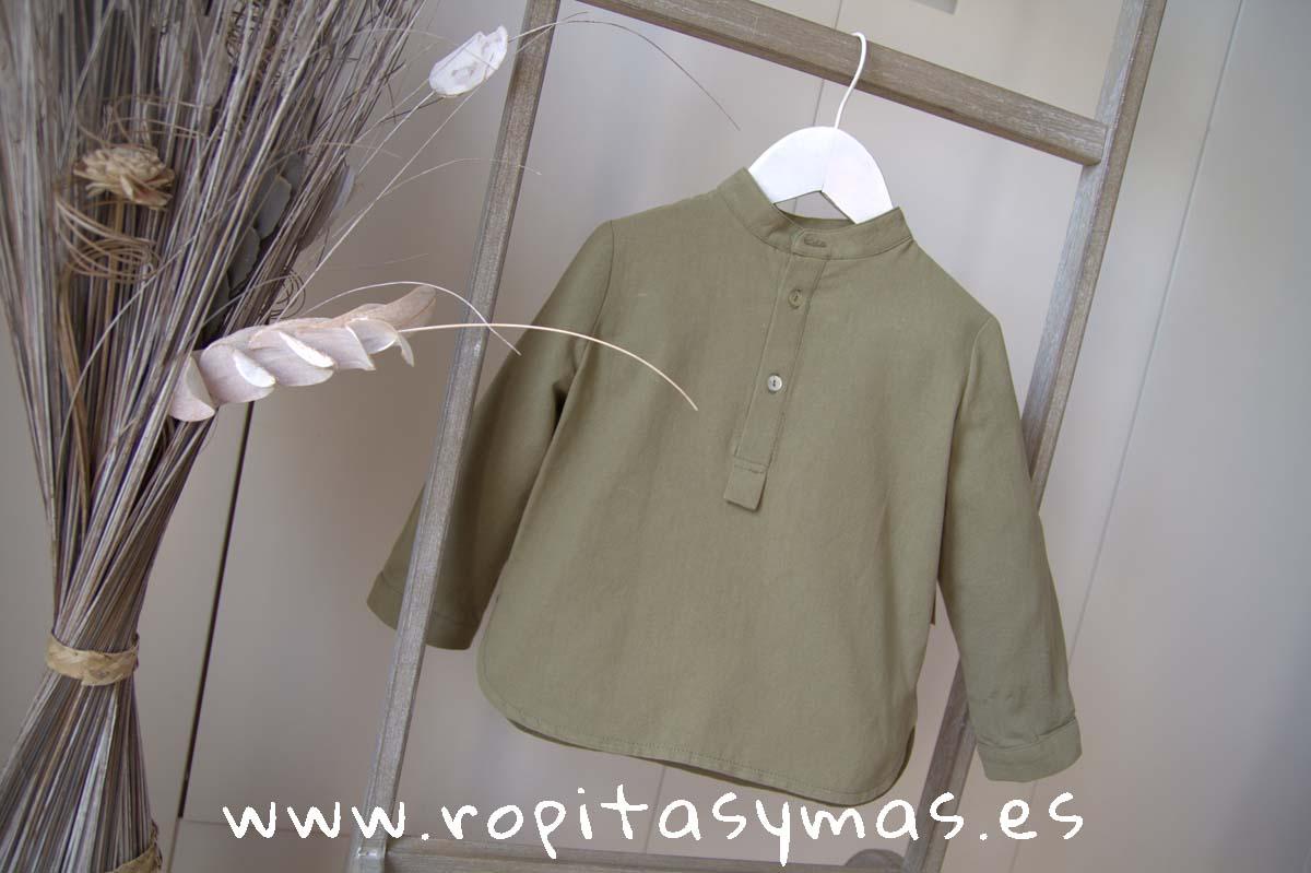 Camisa niño verde hoja de MIA Y LIA