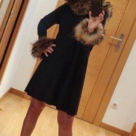 Vestido negro ÓPALO marmota de BELLA BIMBA, invierno 2019