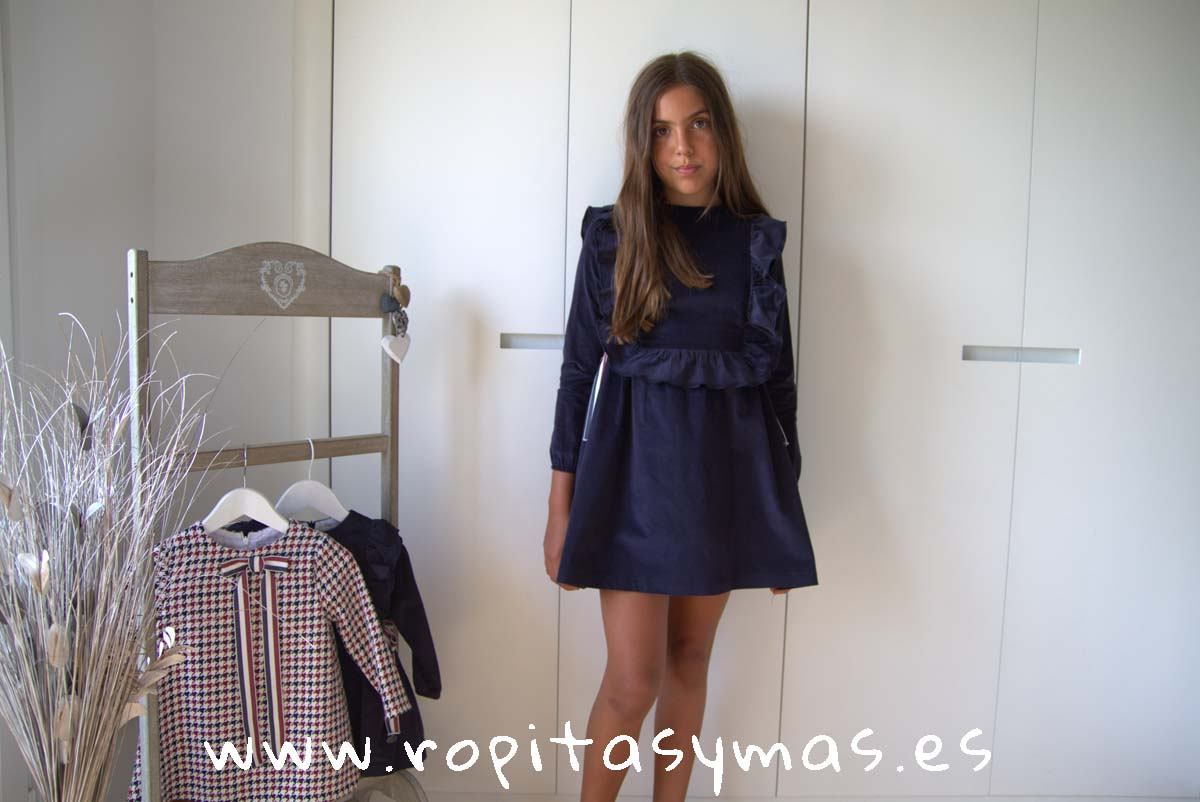 Vestido azulón BRITISH de EVE CHILDREN