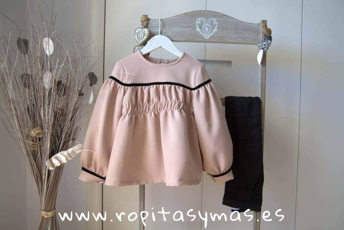 Blusa engomada rosa TEEN STRIPES de EVE CHILDREN