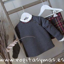 Sudadera unisex gris TARTAN de EVE CHILDREN, invierno 2019