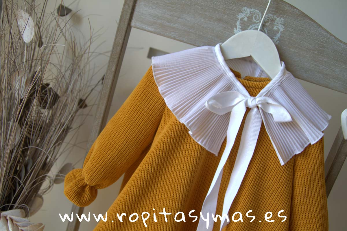 Vestido punto mostaza FOX de EVE CHILDREN