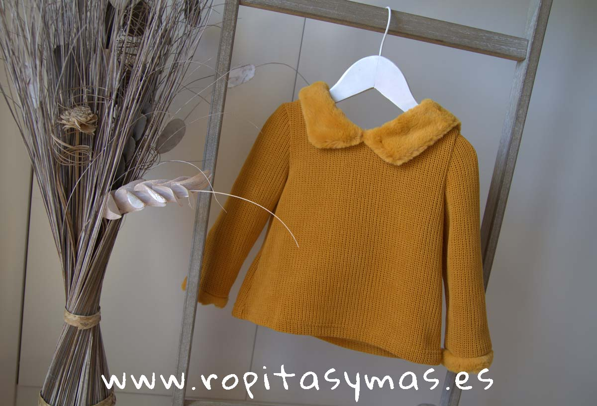 Jersey capucha mostaza FOX de EVE CHILDREN