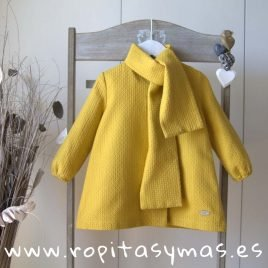 Vestido amarillo TARTAN de EVE CHILDREN, invierno 2019