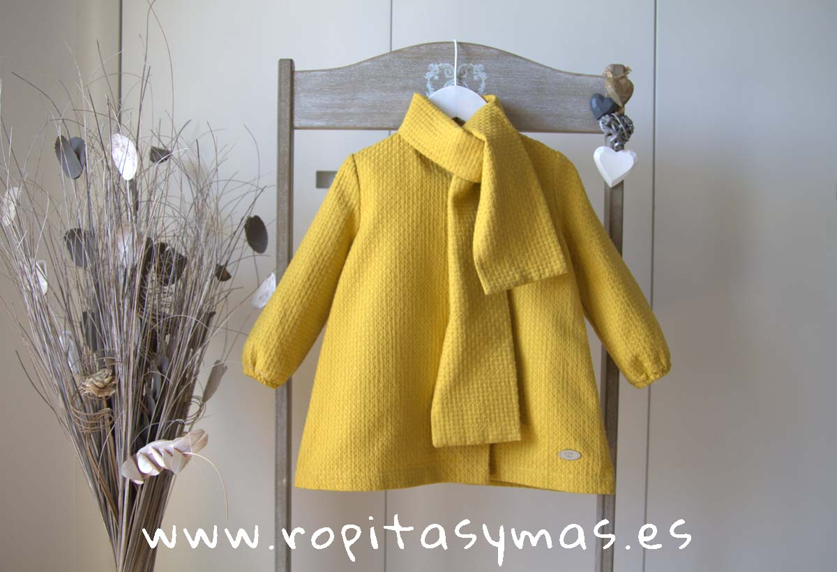 Vestido amarillo TARTAN de EVE CHILDREN