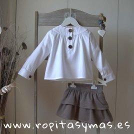 Conjunto falda pata de gallo BALMORAL de EVE CHILDREN, invierno 2019