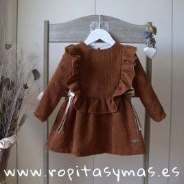 Vestido pana caldero LEAF de EVE CHILDREN, invierno 2019