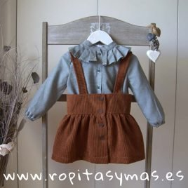Conjunto falda caldero LEAF de EVE CHILDREN, invierno 2019