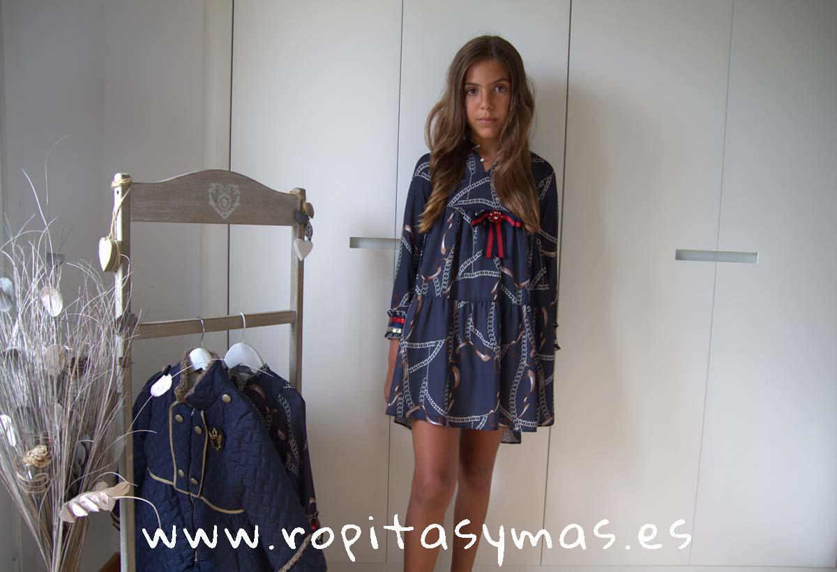 Vestido marino cadenas YOUNG&CHIC de KAULI