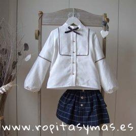 Blusa pespunte blanco roto  TOPO de KAULI, invierno 2019