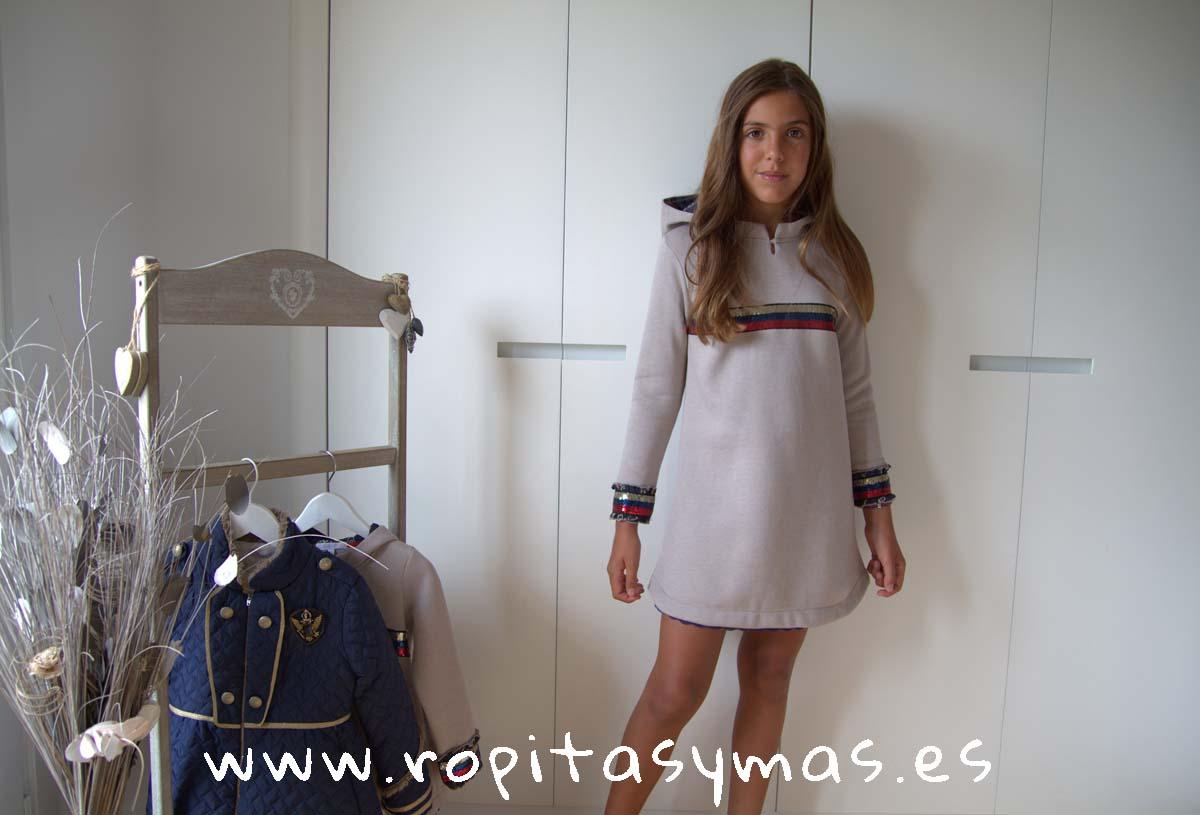 Vestido beige YOUNG&CHIC TOPO de KAULI