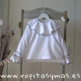 Blusa blanca baberola LUX de MAMI MARIA, invierno 2019