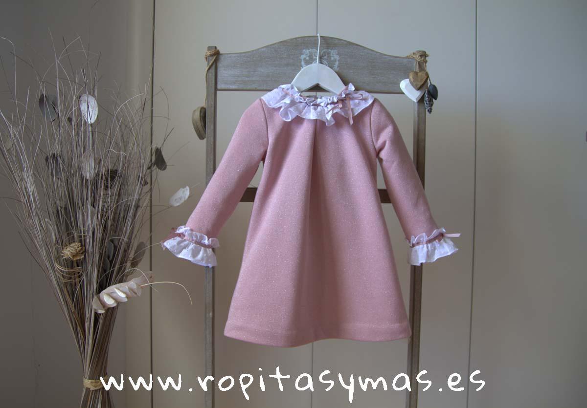 Vestido felpa rosa lúrex NÓRDIC PINK MAMI MARÍA