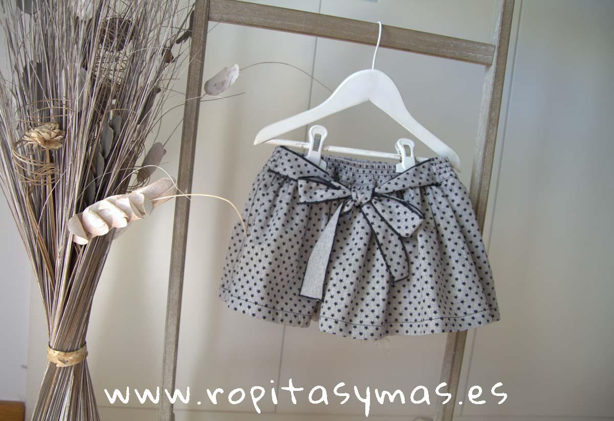 Falda-pantalón gris estrellas LUX de MAMI MARIA