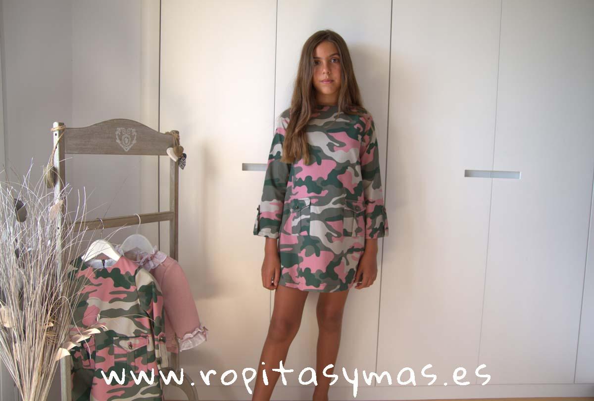 Vestido rosa camuflaje SAFARI de MAMI MARÍA