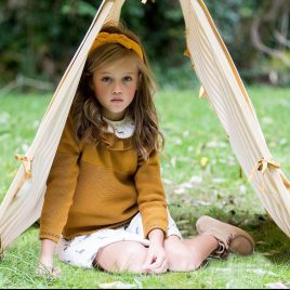 Jersey ocre TECKELS de KIDS CHOCOLATE, invierno 2019