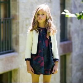 Chaqueta larga greca CAMUFLAJE de KIDS CHOCOLATE, invierno 2019
