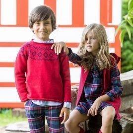 Vestido TARTAN de KIDS CHOCOLATE, invierno 2019
