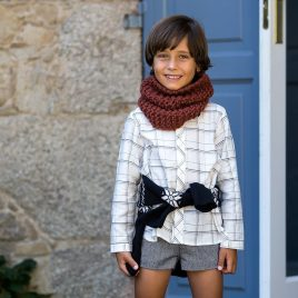 Conjunto short niño LUREX de KIDS CHOCOLATE, invierno 2019
