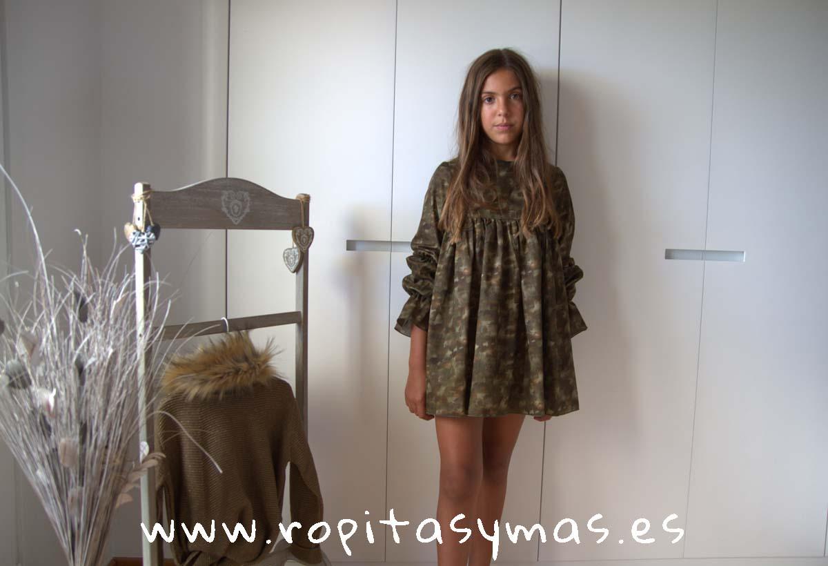 Vestido verde camuflaje JASPE de BELLA BIMBA