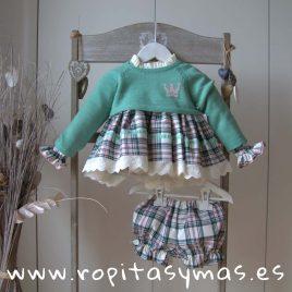 Jersey corto CASILDA verde niña de EVA CASTRO, invierno 2019