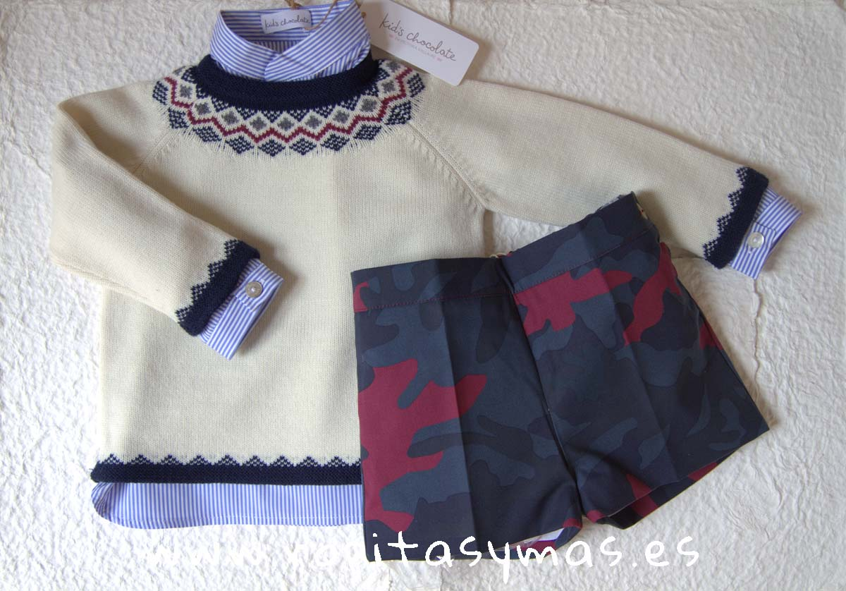 Conjunto short niño CAMUFLAJE de KIDS CHOCOLATE