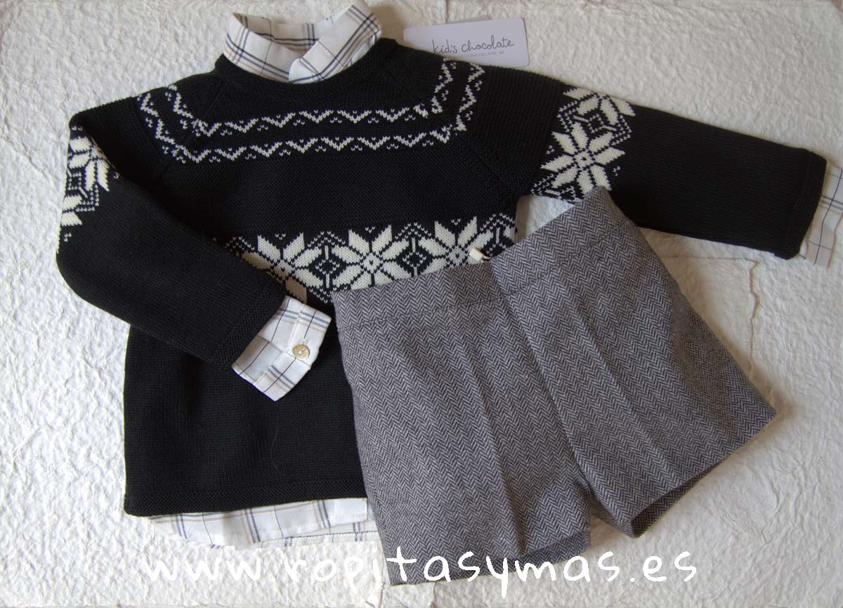 Conjunto short niño LUREX de KIDS CHOCOLATE