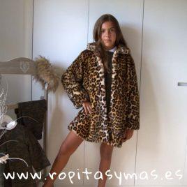 Abrigo pelo leopardo de MIA Y LIA, invierno 2019