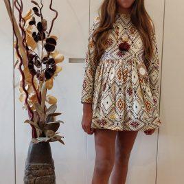 Vestido bordado TERRACOTA de NOMA, invierno 2019